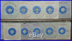 10 ELVIS PRESLEY ORIGINAL CANADIAN ONLY LIGHT BLUE LABEL 45's MINT, MINT, MINT