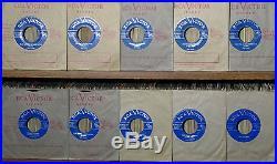 10 KILLER ELVIS PRESLEY 1956 CANADIAN ONLY LIGHT BLUE LABEL 45's MINT
