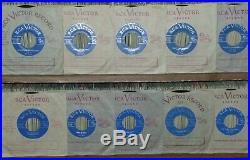 10 VERY RARE ELVIS PRESLEY ORIGINAL CANADIAN LIGHT BLUE LABELS 45's. ALL MINT-