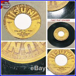 1950s ELVIS PRESLEY Baby Let's Play House SUN 217 orig rockabilly bopper HEAR 45