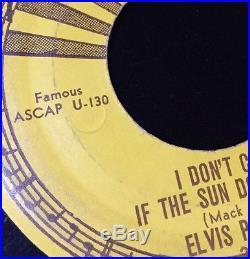 1954 Original 45 Elvis Presley 7 Vinyl Good Rockin' Tonight Sun210 Push Marks