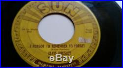1955 Rock 45 ELVIS PRESLEY Mystery Train/ I Forgot To Remember To Forget SUN VG
