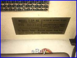 1956 Elvis Presley Enterprises RCA Victor Model 7-EP-45 Record Player RARE Model