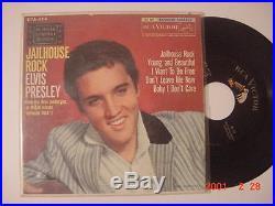 1957 Elvis Presley, R&r Ep & Pic Sleeve, Jailhouse Rock, M-/beat-up, See Info