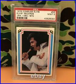 1978 Donruss Elvis Presley PSA 9 Records No. 56 Jan Dec 1970 #56 Graceland