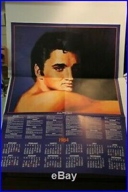 1983 Elvis Blue / Black Splatter Splash Elvis Presley Lp In Excellent Condition