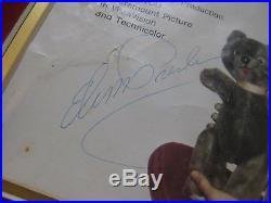 2 Elvis Presley Signed 45 teddy bear loving you RCA 47-7000 record Autograph
