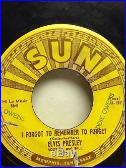 223 Sun Label Elvis Presley 1955 Mystery Train 45 Record
