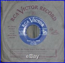 26 ELVIS PRESLEY 45's VERY RARE CANADIAN ONLY LIGHT BLUE LABEL MINT- 45