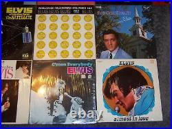 40 Elvis Presley Record Lot Nice Vintage Memphis-gold-blue-hawaii-christmas
