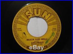45 RPM Record ELVIS PRESLEY MILKCOW BLUES BOOGIE SUN # 215