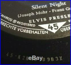 7 1959 Elvis Presley WHITE CHRISTMAS / Silent Night GOLD TRI RCA 47-9279 VG/EX