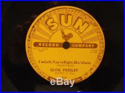 78 RPM SUN 217 ELVIS PRESLEY Baby Lets Play House I'm Left, You're Right. E+