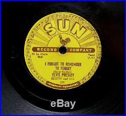 78 rpm Elvis Presley Mystery Train US SUN 223