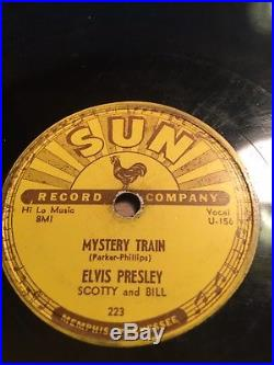 78rpm Rock Elvis Presley Mystery Train & I Forgot To Remember To Forget Sun