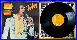 99% MINT ORANGE QUADRADISC PKG Elvis Presley ELVIS TODAY SHRK/HYPE APD1-1039
