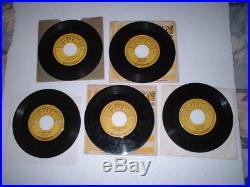 ALL 5 -original SUN 45s by ELVIS PRESLEY #'s 209,210.215,217, & 223 -$9,999 obo