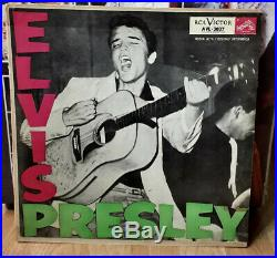 ARGENTINA Elvis Presley SUPER RARE 1959 PRESSING! AVL-3037 HIS FIRST Lp Nice WOW