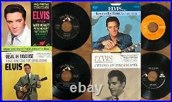 BIG LOT of 34x ELVIS PRESLEY 45rpm Picture Sleeves with 45s Pictured/GradedWOW