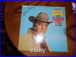 Celebrity owned and signed autographed Elvis Presley vintage record