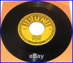Clean Original 1955 ELVIS PRESLEY MYSTERY TRAIN SUN RECORDS 223 Glossy 45RPM