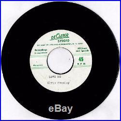 DeClercq Studio Elvis Presley / Love Me / 45RPM / Acetate / Circa. 1956