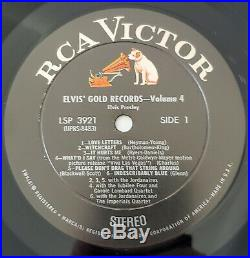 ELVIS' GOLD RECORDS Volume 4 RCA VIctor LSP-3921 STERO 1960
