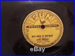 ELVIS PRESLEY 10 78 SUN 209 Thats All Right Blue Moon of Kentucky RARE 1954