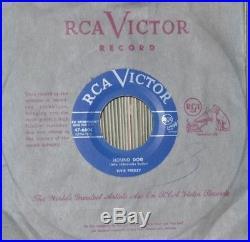 ELVIS PRESLEY 10 VERY RARE 1957 CANADIAN ONLY LIGHT BLUE LABEL MINT- 45's
