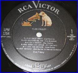 ELVIS PRESLEY' 1956 debut LPM-1254 Pale Pink Title M- Vinyl See Photos