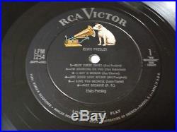 ELVIS PRESLEY 1st S/T LP RCA LPM-1254 MONO 1s/1s Beautiful Stunning Condition