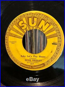 ELVIS PRESLEY 45 Baby Lets Play House / Youre Right ORIG SUN Push Marks 1955