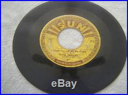 ELVIS PRESLEY 45 RPM Record Baby Let's Play House SUN-217 Original 1955
