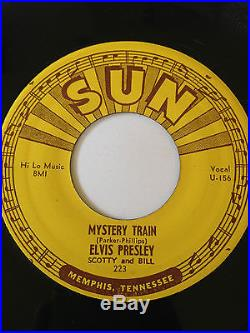 ELVIS PRESLEY 45 (SUN) MYSTERY TRAIN VERY CLEAN ORIGINAL ROCKABILLY
