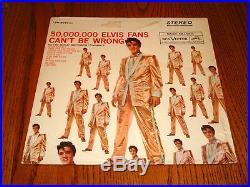 ELVIS PRESLEY 50,000,000 Elvis Fans Can't Be Wrong LP
