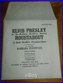 ELVIS PRESLEY 7 ROUSTABOUT MEGARAR USA. PRESS. PROMO für KINOS