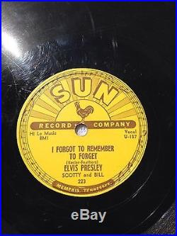 ELVIS PRESLEY 78-RPM Mystery Train-I Forgot To Remember To Forget Rare SUN #223