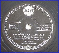 ELVIS PRESLEY 78 Rpm GERMANY Teddy Bear Loving You