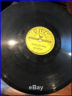 ELVIS PRESLEY 78 rpm Milkcow Blues Boogie / Heartbreaker Original 1955 SUN 215