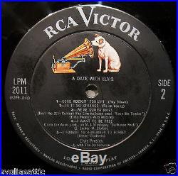 ELVIS PRESLEY-A DATE WITH ELVIS Album-RCA VICTOR #LPM-2011-Gatefold Calender Lp