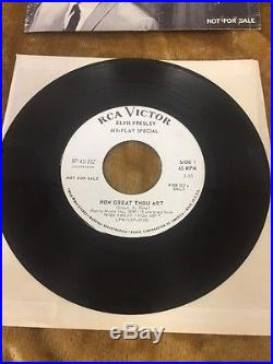 Elvis Presley Air-play Special Promo 45 How Great Thou Art So High Sp-45-162