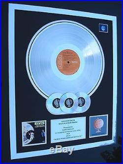 Elvis Presley Aloha From Hawaii Lp Multi Platinum Disc Record Award Album