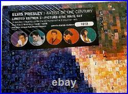 ELVIS PRESLEY ARTIST OF THE CENTURY PICTURE DISC 5 LP #'d Box SEALED MINT RARE