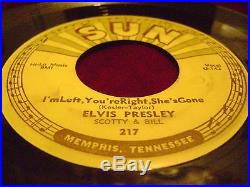 Elvis Presley Baby Let's Play House I'm Left, You're Right. Sun 217