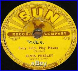 ELVIS PRESLEY BABY LET'S PLAY HOUSE b/w I'M LEFT USA SUN 78 RPM VG+ PLUS GRADE