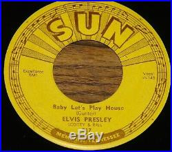 ELVIS PRESLEY BABY LET'S PLAY HOUSE b/w I'M LEFT YOU'RE RIGHT USA SUN 7 1955