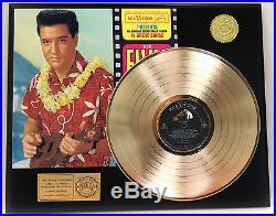 ELVIS PRESLEY BLUE HAWAII GOLD LP LTD EDITION RARE RECORD DISPLAY