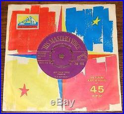 ELVIS PRESLEY BLUE SUEDE SHOES b/w TUTTI FRUTTI UK GOLD HMV 7 1956 NEAR MINT