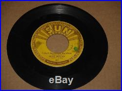 ELVIS PRESLEY Baby, Let's Play House/I'm Left, You're SUN 217 withpushmarks Hear