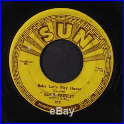 ELVIS PRESLEY Baby Let's Play House / I'm Left Your Right She's Gone 45 Hear